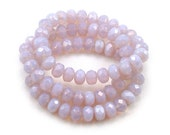 Lilac opaline 6 x 9mm rondelles. Set of 12 or 25.