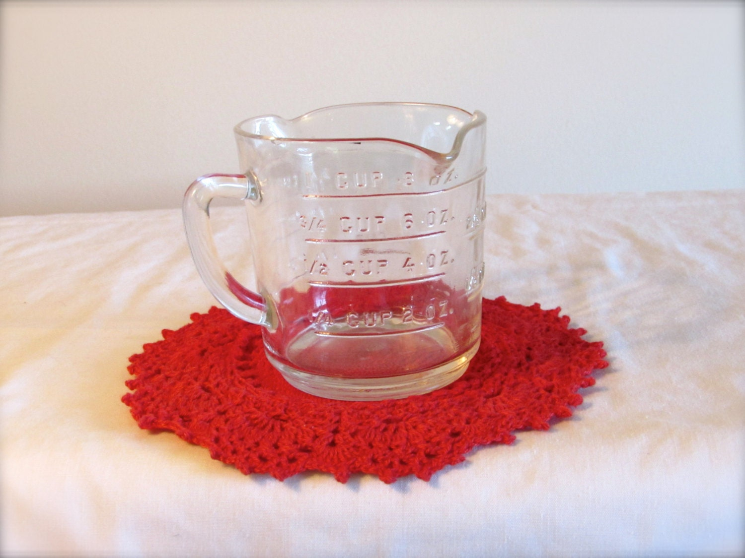 how to clean glass measuring cups