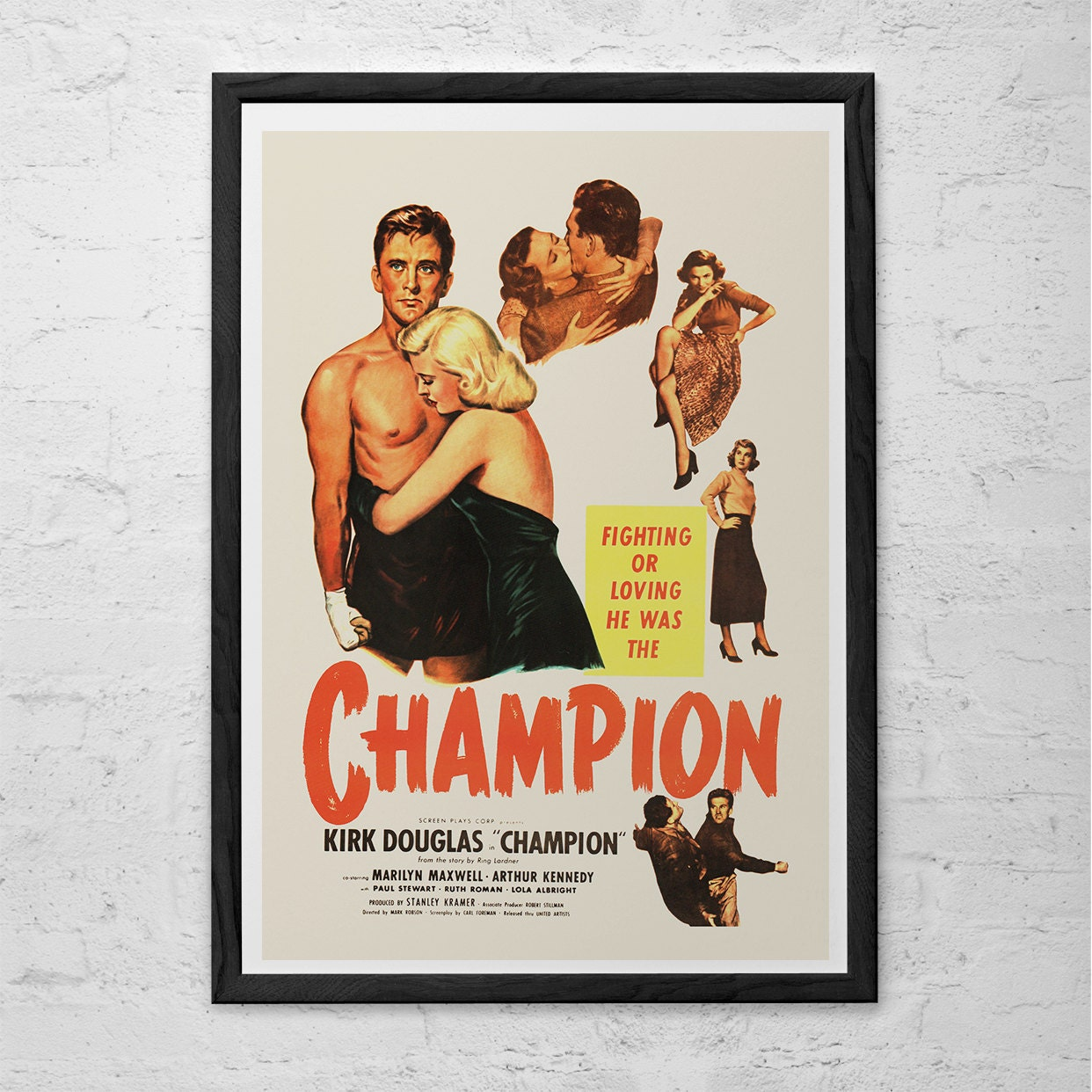 champion movie poster classic movie poster high quality
