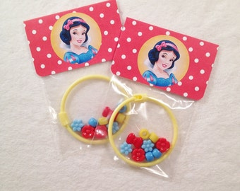 8 -  Snow White Birthday or Slumber Party Favor 6 inch DIY Bracelet Kits Snow White Party