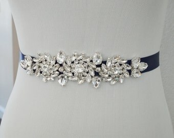 Wedding Sash, Wedding Belt, Bridal Belt, Sash Belt, Crystal Rhinestone Belt, Style 117