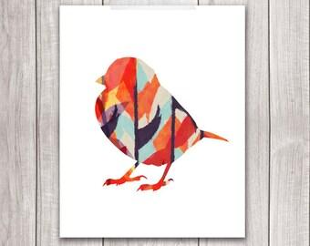 75% OFF SALE - Bird Art Print - 8x10 Sparrow Art, Sparrow Print, Bird Artwork, Bird Print, Printable Wall Art