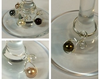 Swarovski Pearl Wine charms Set of 8