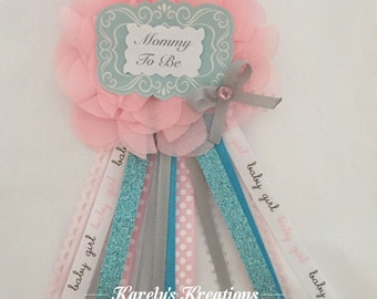 Mommy to be Corsage, babyshower - Choose your colors!