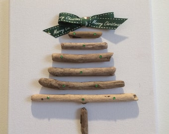 Driftwood Christmas Tree Canvas