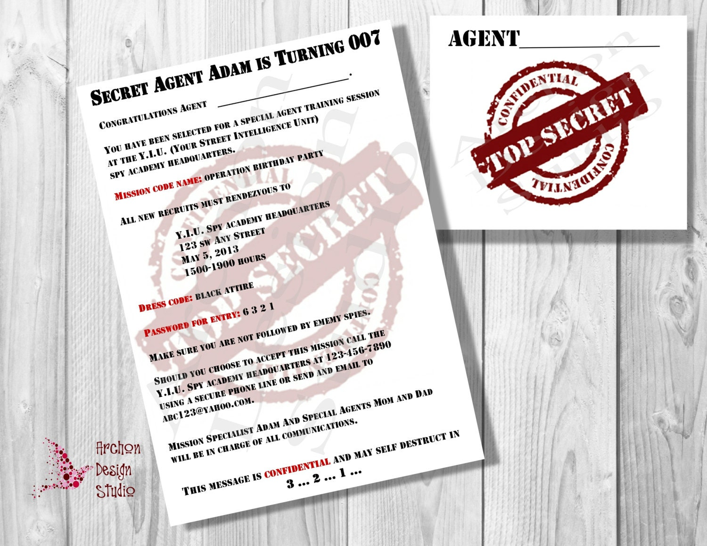 Images of Party Printable Secret Agent - #SC