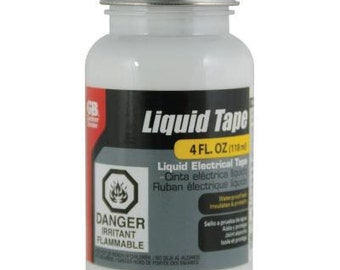 GARDNER BENDER Liquid Tape LTB-400 Black Liquid Tape 4 Fl oz Electrical waterproof seal Fast drying formula 2A5B E A