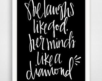 "Lana Del Rey - Carmen ""She Laughs Like God"" Print"