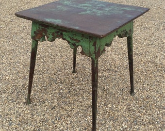 Gorgeous Indian Antique Green Wooden Occasional Table, from Rajasthan
