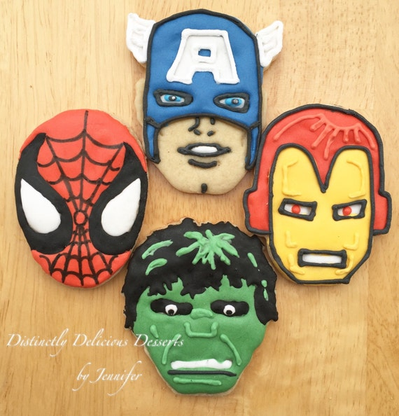 Super Hero Character Cookies (inspired by Marvel)