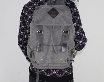 Rainbow Canvas Backpack_school backpack_Girls backpack_Boys Backpack