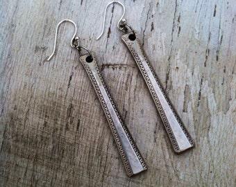 Long & Lengthy Silver Earrings