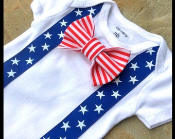 Baby Boy 4th of July Outfit - First Fourth of July Outfit - Baby Boy Clothes - First 4th of July Patriotic Baby - Stars Stripes