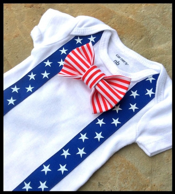 4th of July Outfit Baby Boy Outfit Patriotic Blue Suspenders and Star Stripe Tie. $ USD. QUICK VIEW. Noah's Boytique Baby Boy Fourth of July Outfit Shirt God Bless America Red Bow Tie. $ USD. QUICK VIEW. Noah's Boytique Mothers Day Shirt Toddler Boy Cute Outfits .