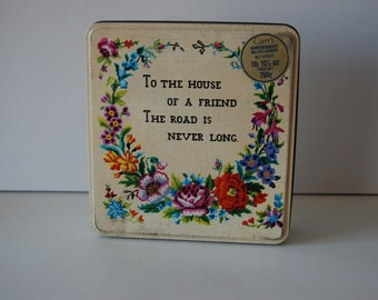 Cookie Tin with embroidery