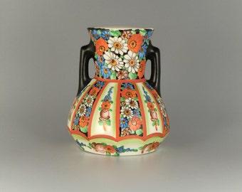 Bohemian Czech Klenec Pottery Vase Amphora by R. Kamenicky