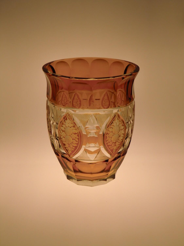 b hmischer b hmische art deco amber glas schneiden zu klaren. Black Bedroom Furniture Sets. Home Design Ideas
