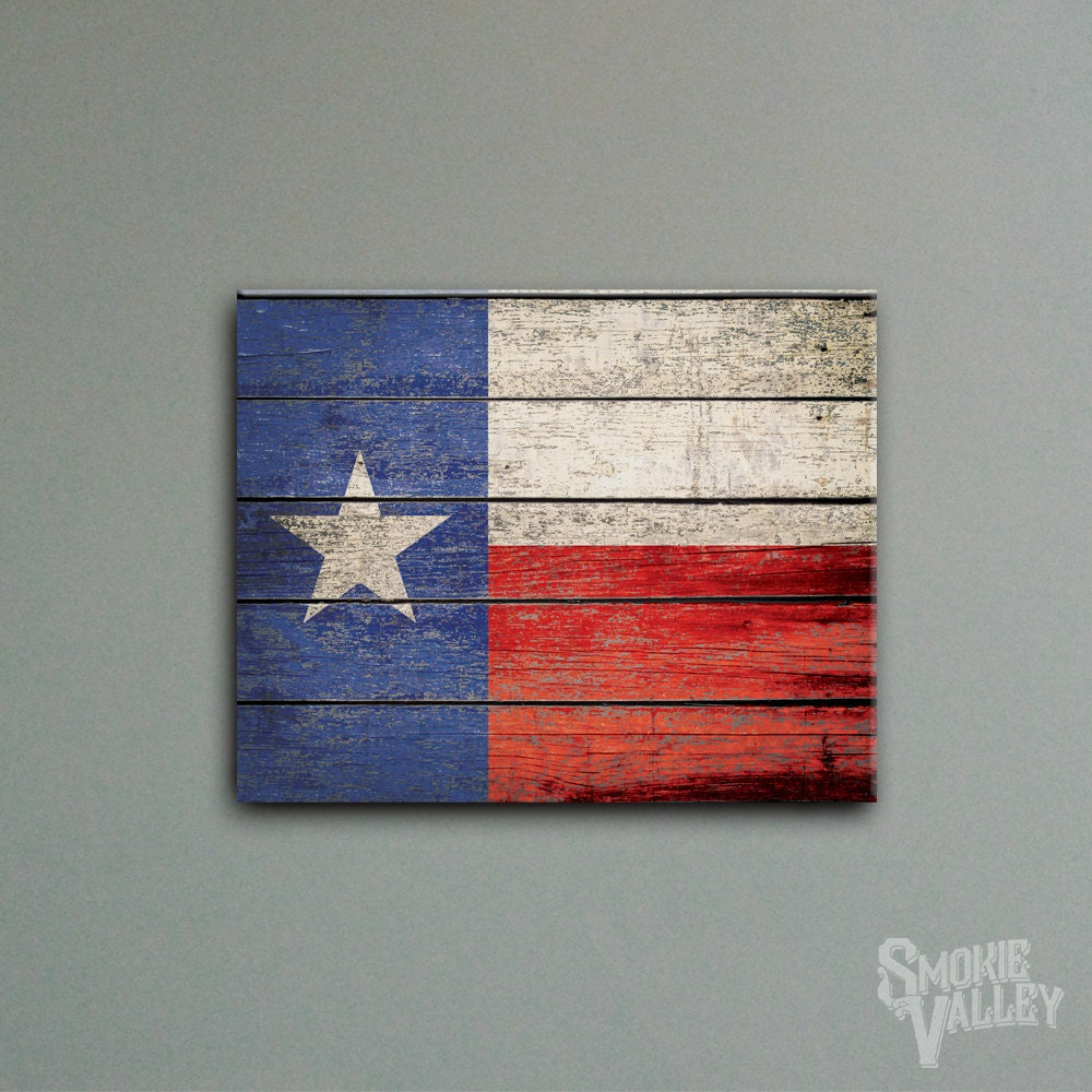 Distressed Texas Flag Rustic Flag Decor 16x20 By Smokievalley
