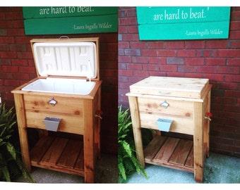 Wooden 48Quart Cooler Stand