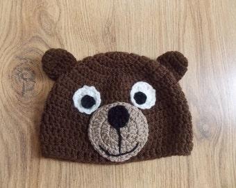 Teddy Bear beanie hat photo prop