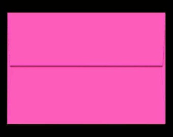 25 A7 Envelopes FUCHSIA PINK for 5x7 DIY Blanks - Cards Invitations Announcements Parties with Square Style Flap Good Quality