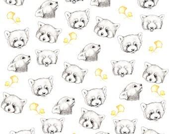 Red Pandas Fabric Print - Fat Quarter