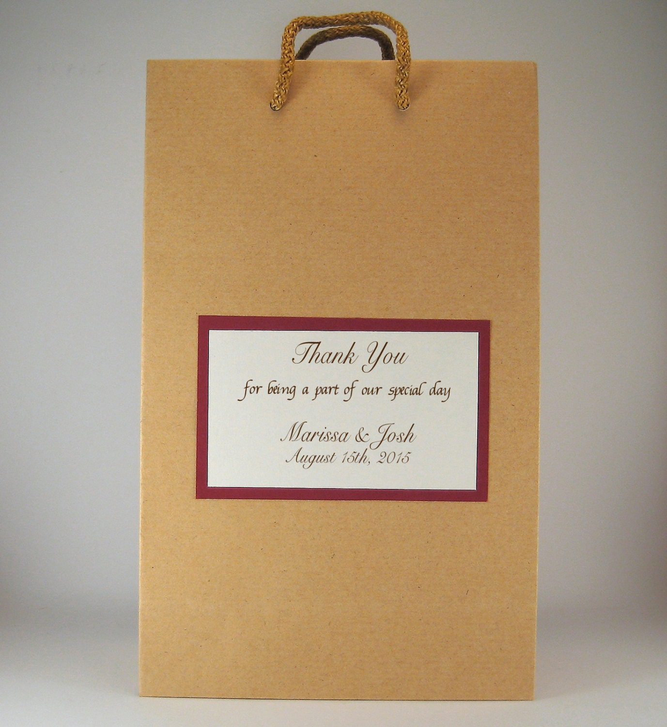 Personalised Wedding Favour Paper Bags : Personalized Wedding Favor Bags 50 Rustic Wedding Gift Bags