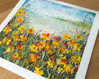 30x30cm Print on Paper of Karolyn's Beach