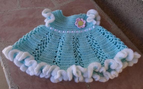 Baby Lacey Ruffled Dress Crochet Pattern PDF Digital by ...