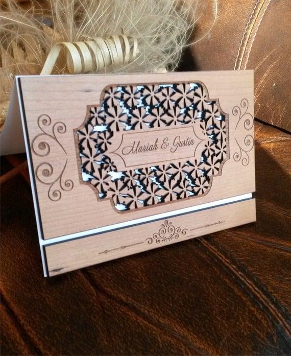 like this item - Wooden Wedding Invitations
