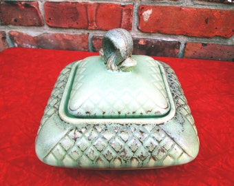 German ceramic Art Pottery candy dish - price listed includes discount