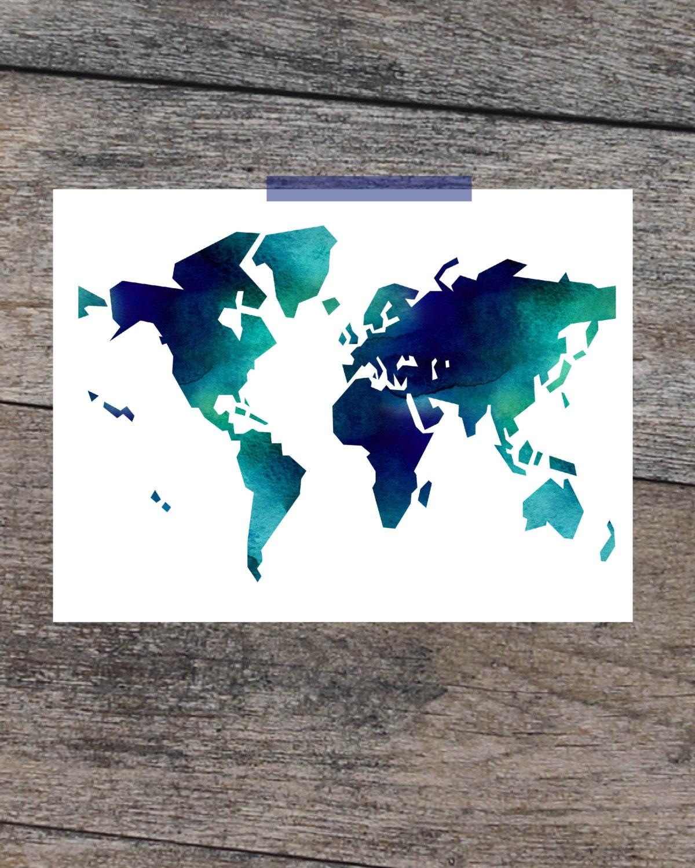 Large World Map Art World Map Wall Art Large