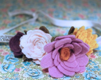 wool felt flower crown