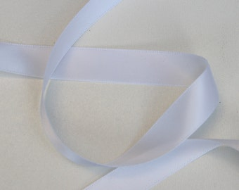 5 yards White Double Faced satin Ribbon 5/8 inches - White satin ribbon - White satin ribbon