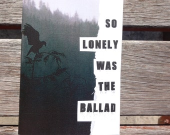 So Lonely was the Ballad: a zine about anxiety