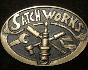 Custom made buckle for Satch Works Auto Repair