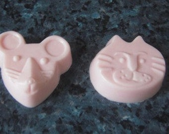 Goats Milk Soaps - Mouse & Cat