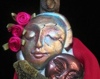 Mary Of All Children Goddess Doll. Assemblage Art, OOAK.