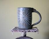 Sundance Mug Speckled Blue-Sage - 16 oz  - wheelthrown handmade
