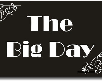 """Silent Film Board Wedding Photo Booth Prop """"The Big Day"""" 013-471"""