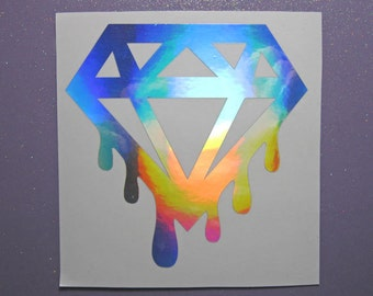 Dripping Diamonds vinyl sticker decal - sticker for car- window decal for car- laptop decal