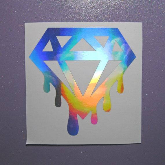 Drippin Diamond: Dripping Diamonds Vinyl Sticker Decal Sticker For Car
