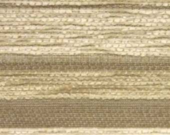 Diamante Striped Designer Curtain / Upholstery Fabric in Cream and Beige by the Metre (DB13)