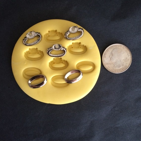 wedding rings silicone mold by misssassymolds on etsy