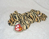 Stripes Tiger Ty Beanie Babie Stuffed Animal Ty Beanie 1995 Mint Condition