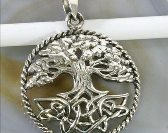 Tree of Life, silver pendant--Tree of life, pendant--4882
