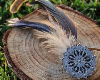Feathered Hair Clip
