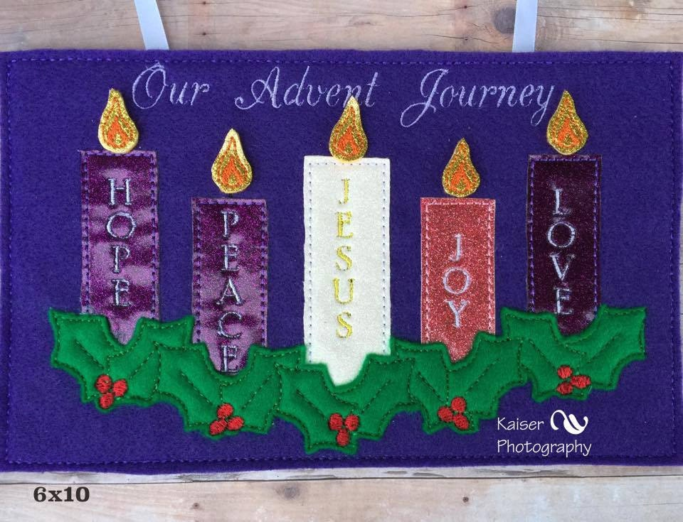 advent bulletin boards in the hoop ith advent banner with christmas candle for 5 x 10024