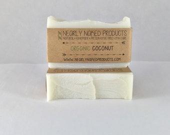 Pure ORGANIC Coconut Oil Soap - 100% Organic - Natural Soap - Vegan Soap - Moisturizing Soap