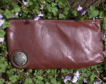 Leather bag, Leather handbag, Handmade leather clutch -Brown Leather